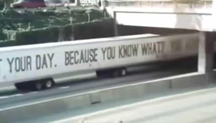 mile long semi truck