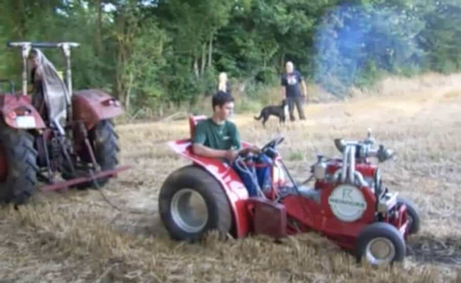 Tractor Pull With Turbo Charged Riding Lawnmower The Grizzled