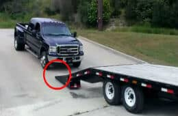 How Not To Drive A Ford F-350 On A Trailer