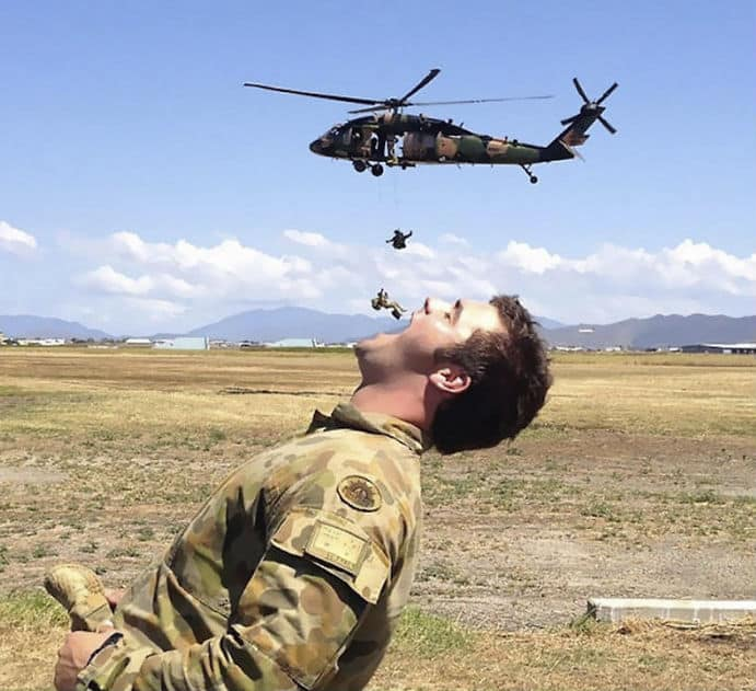 Perfectly Timed Photo Military