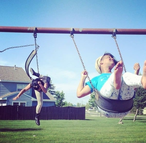 Perfectly Timed Photo Swing Set