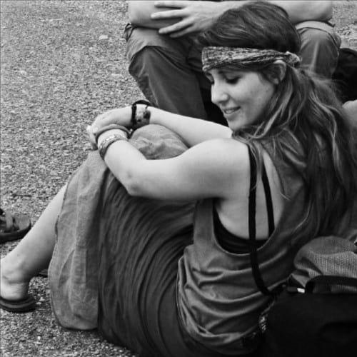 Girl at Woodstock 1969