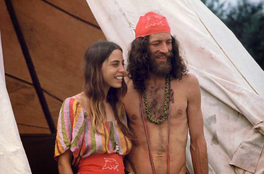 Hippie Couple Woodstock