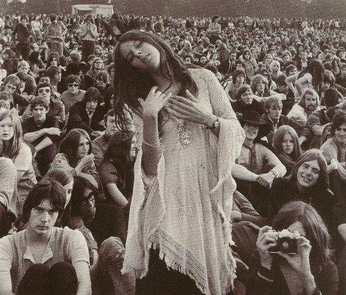 Woodstock Dancing Hippie