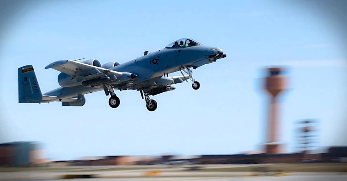 A-10_ 122nd Fighter Wing from the Indiana Air National Guard flew A-10 Thunderbolt II's for close air support and combat search and rescue training