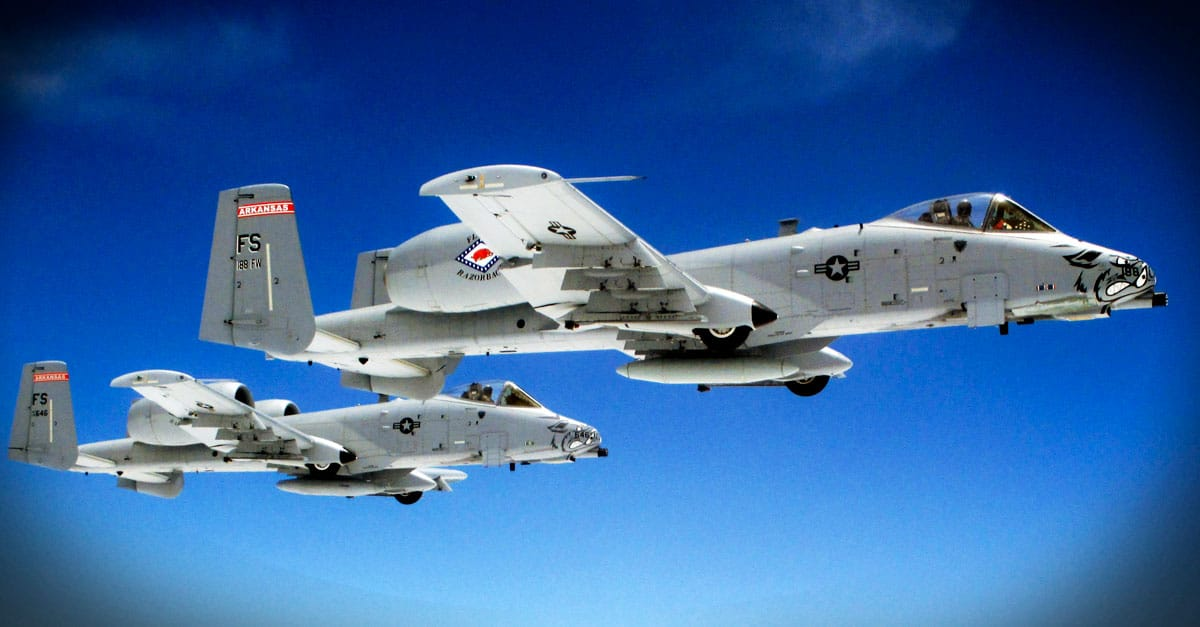 A-10_ a pair of A-10 Thunderbolt II aircraft flying