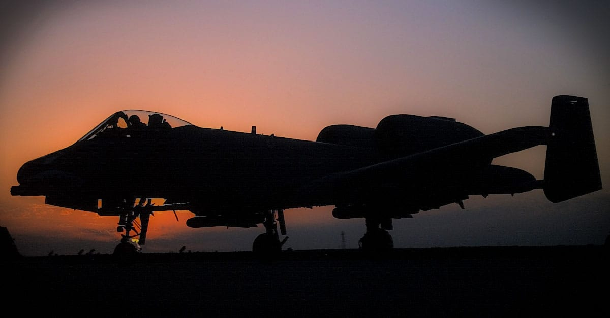 A-10_A-10 against a sunset