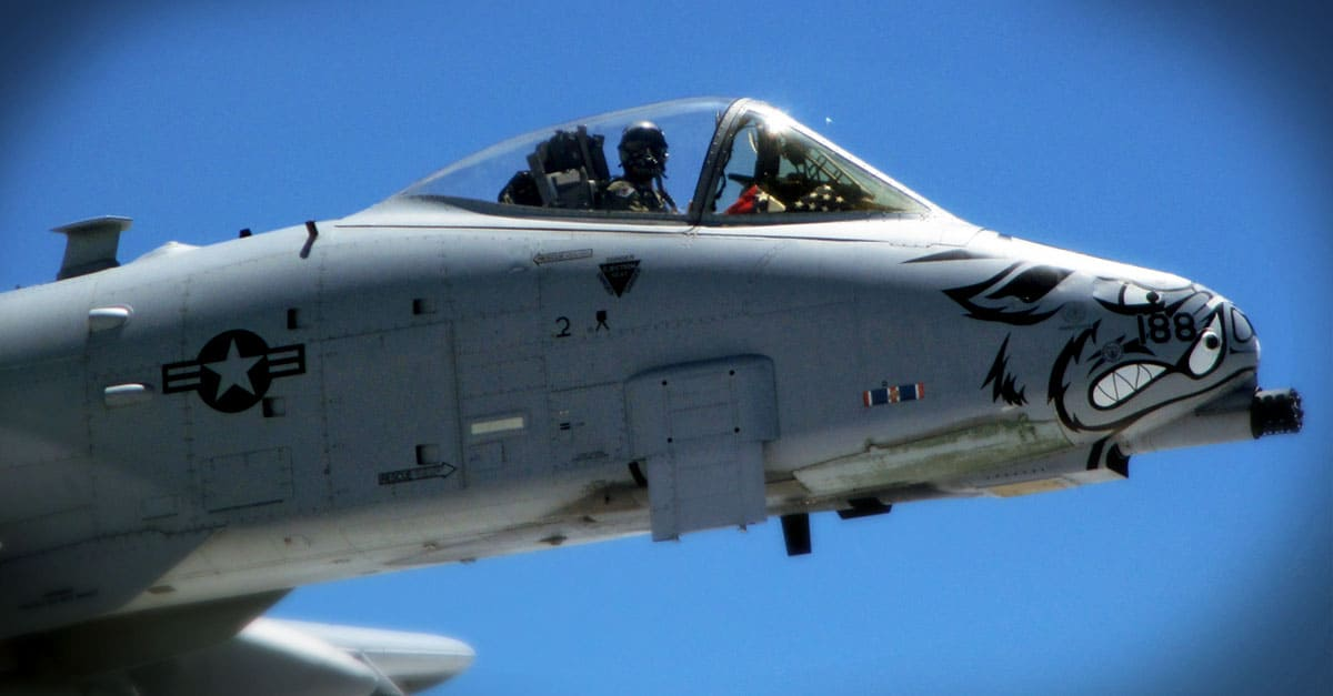 A-10_A-10 piloted by Col. Mark Anderson, 188th Wing commander
