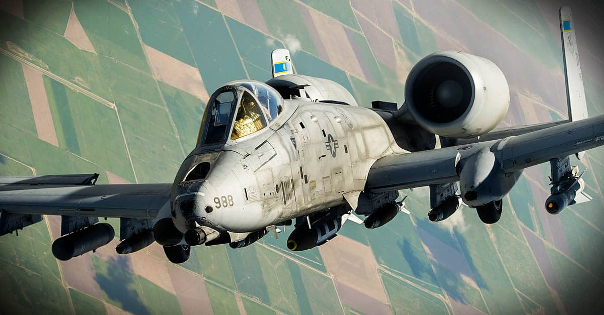 A-10_An A-10 Thunderbolt II departs after receiving fuel from a KC-135 Stratotanker
