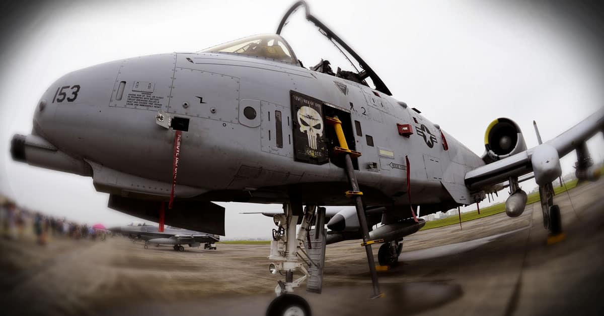 A-10_An A-10 Warthog is displayed on the flight line during the 2016 Japanese-American Friendship