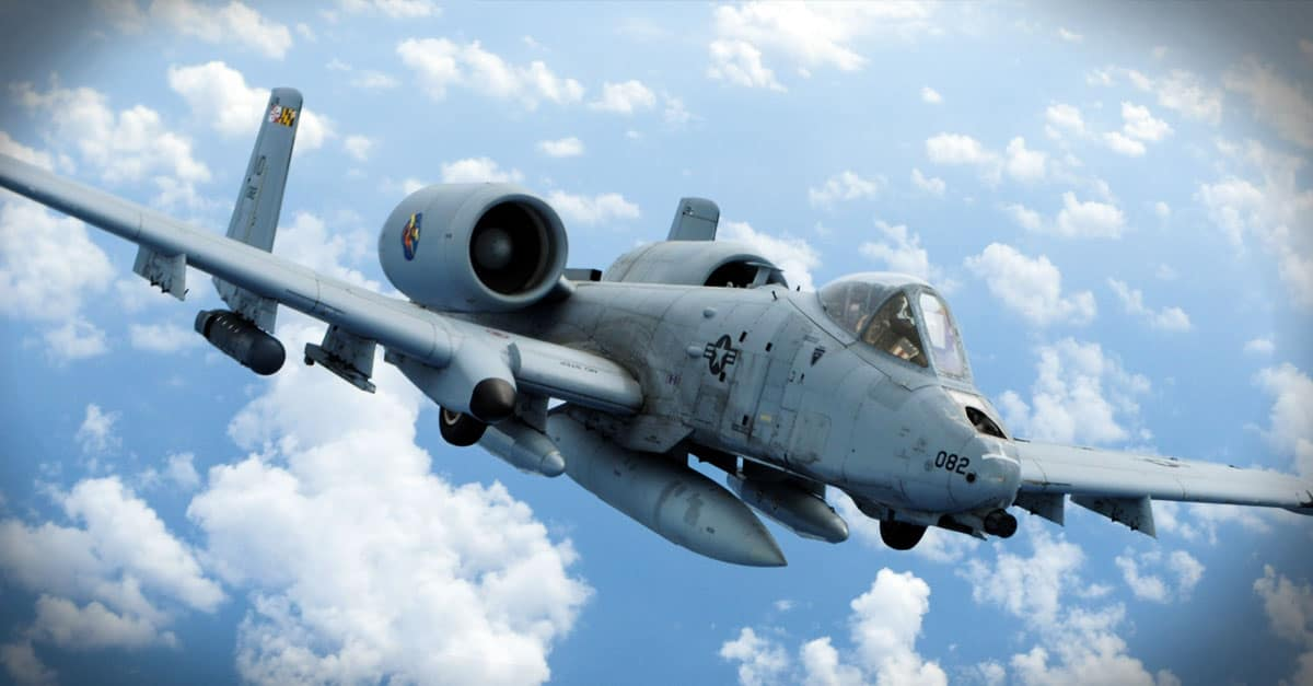 A-10_An A-10 flies off the wing of a KC-135 Stratotanker