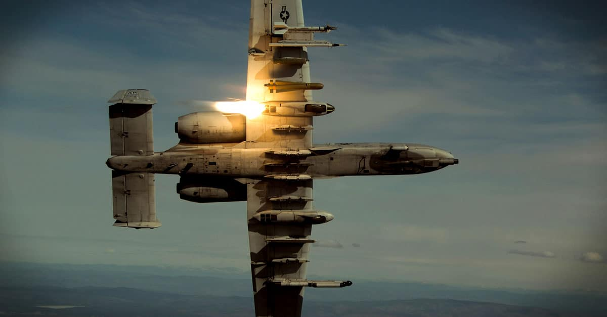 A-10_An A-10 performs sorties daily providing top cover for ground forces in Southwest Asia