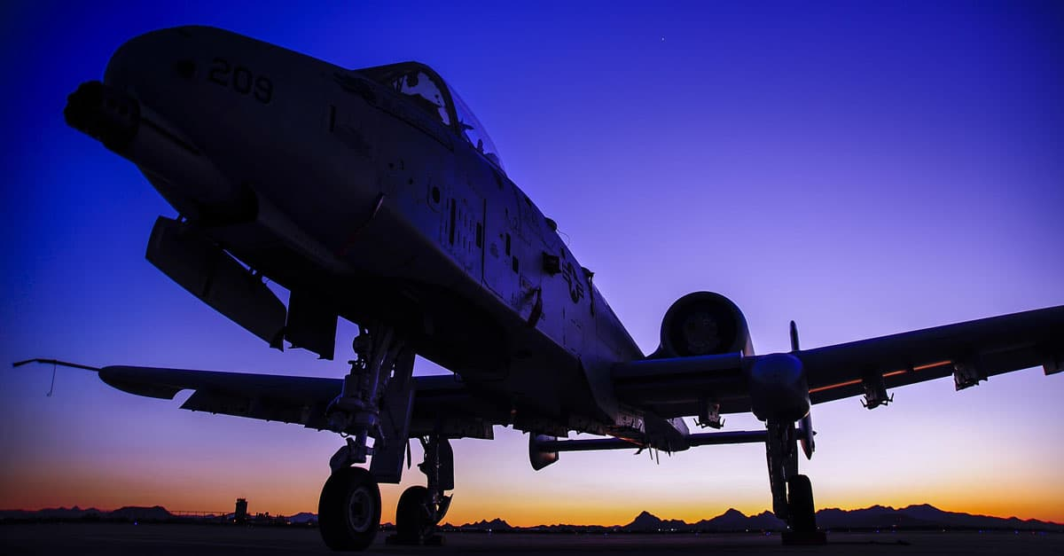 A-10_An A-10C Thunderbolt II sits on the flight line at Davis-Monthan Air Force Base, Ariz