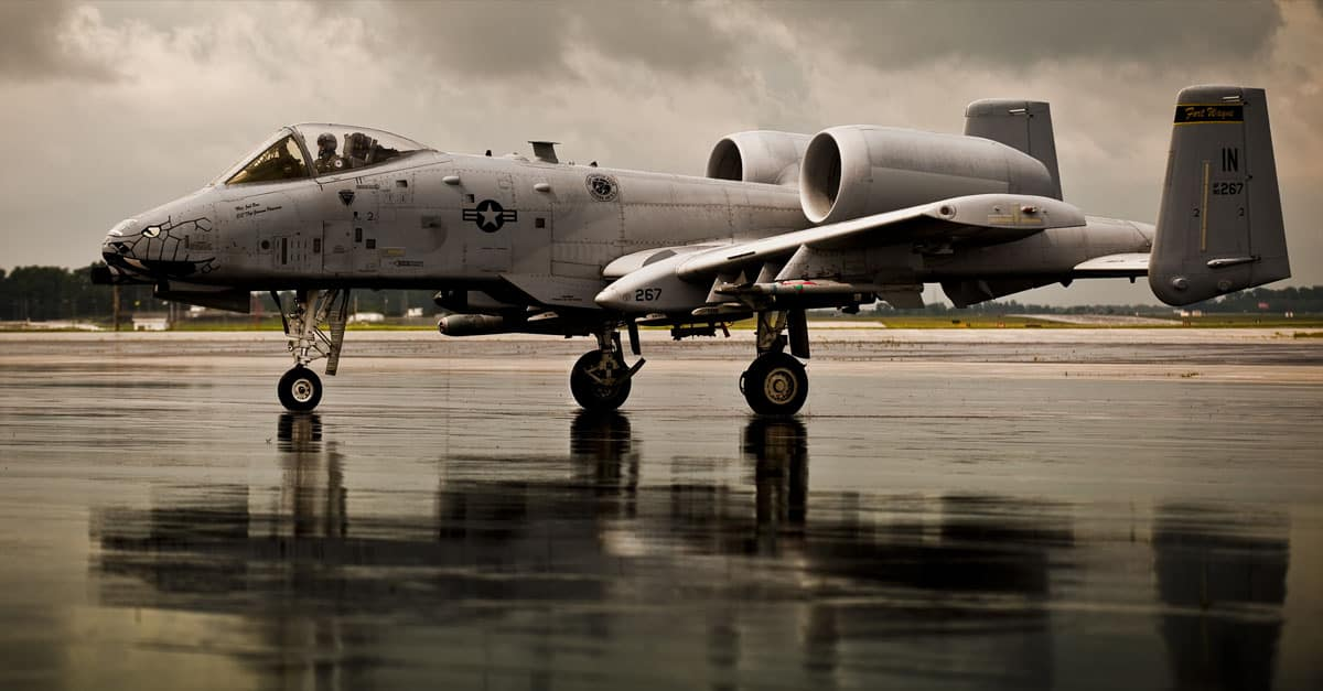A-10_An A-10C Warthog pilot in Fort Wayne, Ind taxis across the flight line