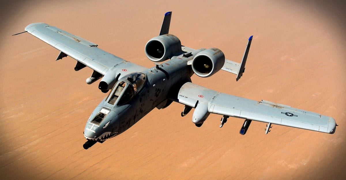 A-10_returns to mission after receiving fuel from a KC-135 Stratotanker