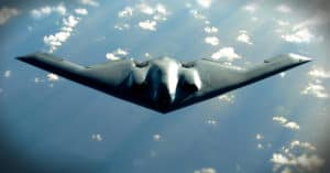 B-2-A B-2 Spirit bomber soars Pacific Ocean