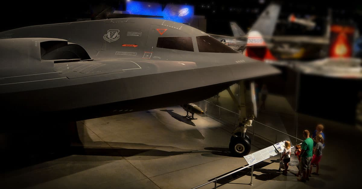 B-2- Northrop B-2 Spirit in the Cold War Gallery at the National Museum of the United States Air Force