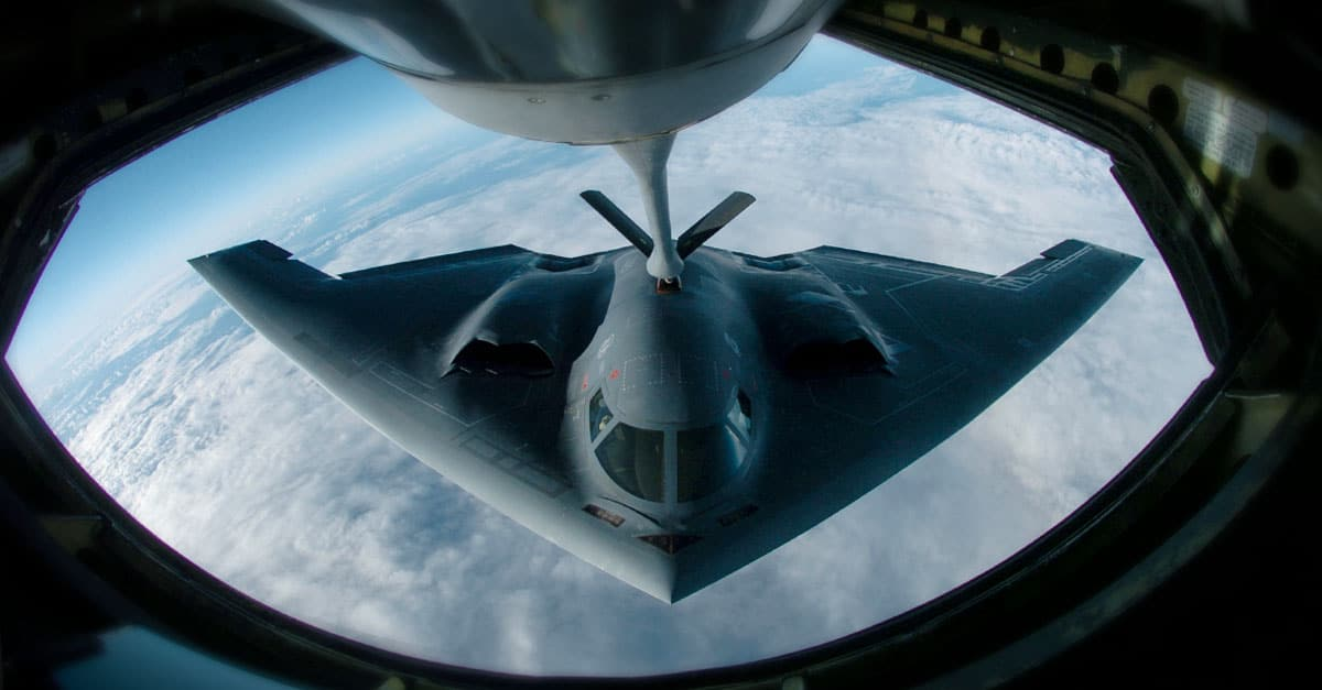 B-2_A B-2 Spirit Bomber is scheduled to fly over Homestead Air Reserve Base