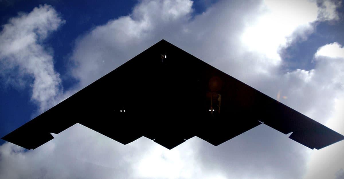 B-2_A B-2 Spirit lands at Andersen Air Force Base, Guam