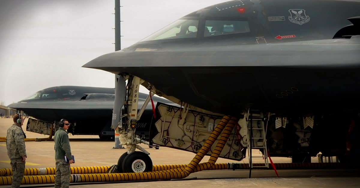 B-2_Maintainers and crew chiefs from the 509th Aircraft Maintenance Squadron prepare B-2