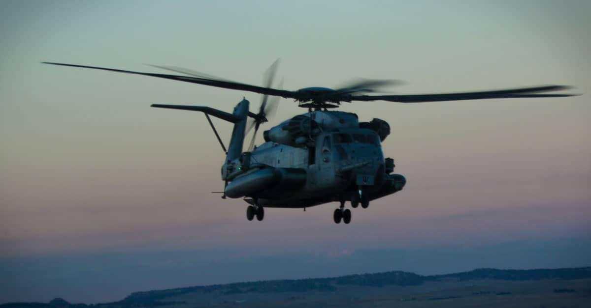 CH-53E_A CH-53E Super Stallion flies over Buckley Air Force Base