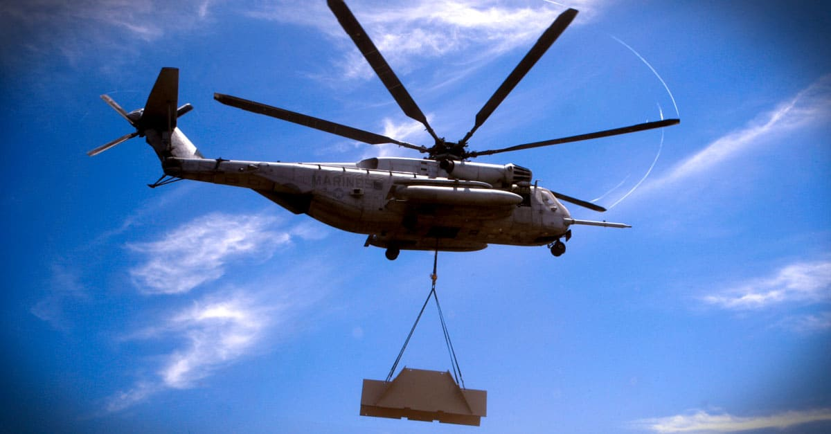CH-53E_Helicopter Support Team Gets Carried Away