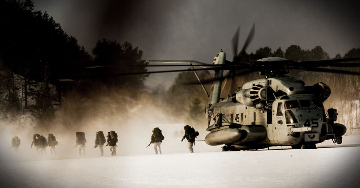 CH-53E_Nato Forces conduct helicopter insertion