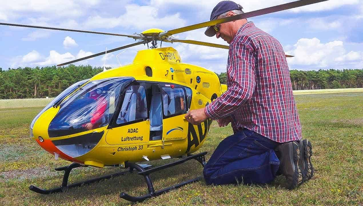 RC MODEL TURBINE HELICOPTER EC135 EUROCOPTER
